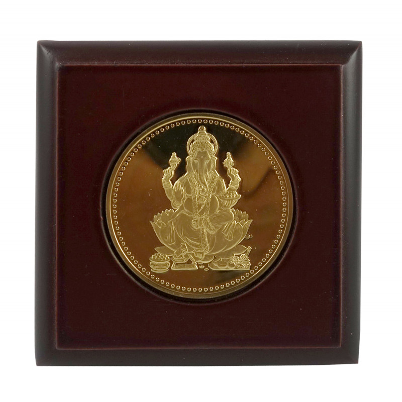 HANDICRAFT MEMENTO GOLD PLATED GANESH JI
