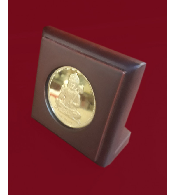 Handicrafts Brass Gold Plated Memento God Hanuman 3x3 Inch