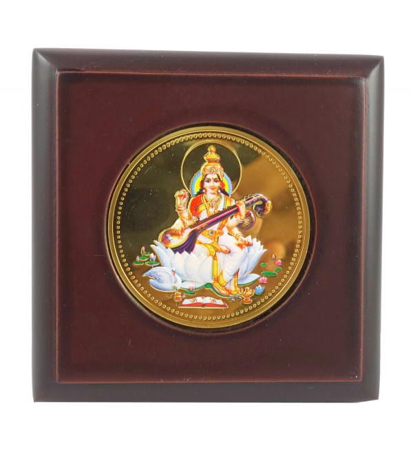 HANDICRAFT MEMENTO GOLD PLATED SARASWATI