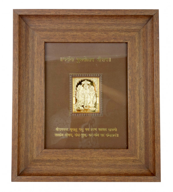 HANDICRAFT WALL MEMENTO GOLD PLATED DARBAR WOODEN FRMAE