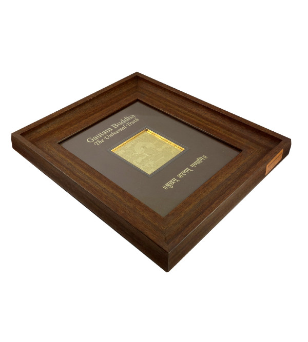 HANDICRAFT WALL MEMENTO GOLD PLATED BUDDHA WOODEN FRAME