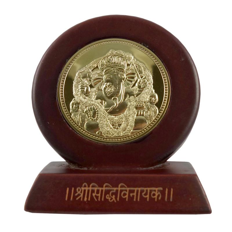 Handicraft Memento Gold Plated Siddhi Vinayak