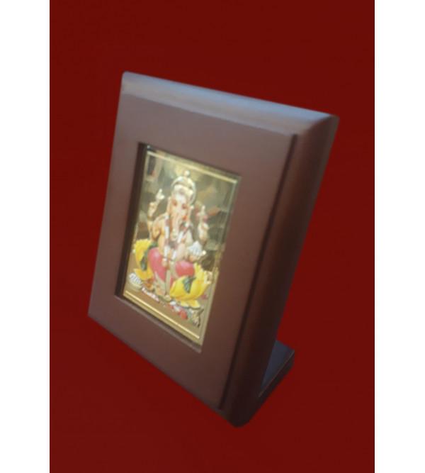 Handicrafts Brass Gold Plated Memento Lord Ganesh 3x3.75 Inch