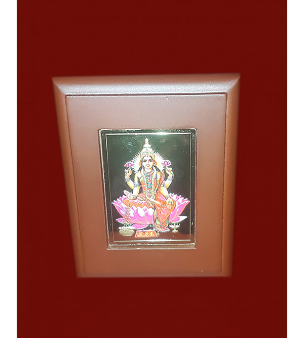MOMENTO GOLD PLATED LAXMI JI 2.5x3 INCH WITH WDN. FRAME