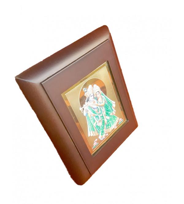 Handicrafts Brass Gold Plated Memento Radhakrishnan 3.75X4.75 Inch