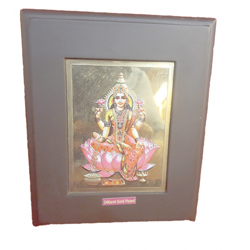 MOMENTO GOLD PLATED LAXMI JI 5X6INCH WITH WDN. FRAME