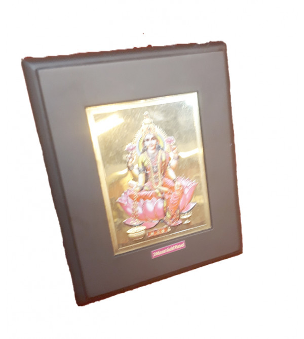 Handicrafts Brass Gold Plated Memento Goddess Lakshmi 5x6 Inch