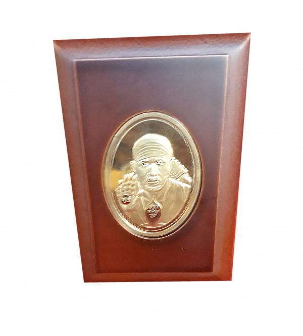 Handicrafts Brass Gold Plated Memento Sai Baba 5x6 Inch