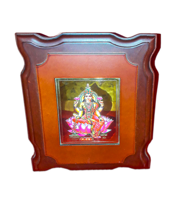 MOMENTO GOLD PLATED LAXMI JI 6X7 INCH WITH WDN. FRAME