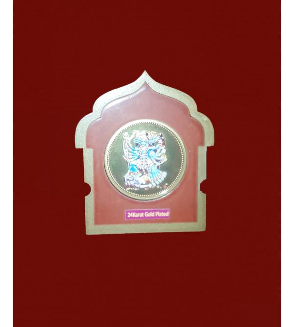 Handicrafts Brass Gold Plated Memento Goddess Kali 2x2.5 Inch
