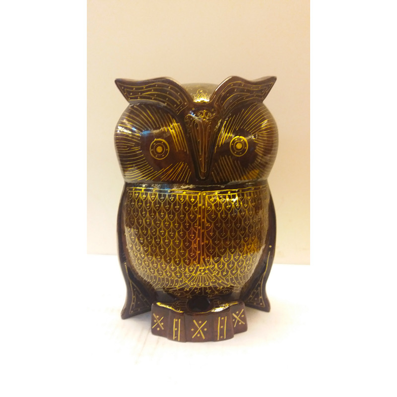 Kadamba Wood Handcrafted Owl with Tarkasbi Work