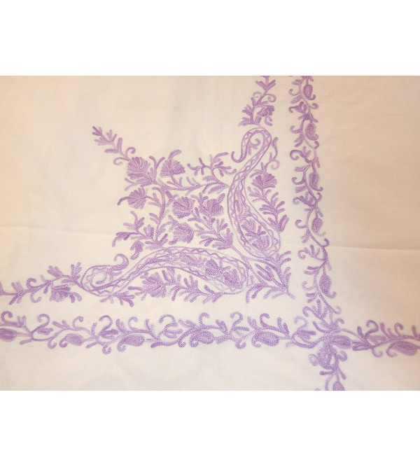 Cotton Sozni Hand Embroidered Table Cover Size 60 Inch Round