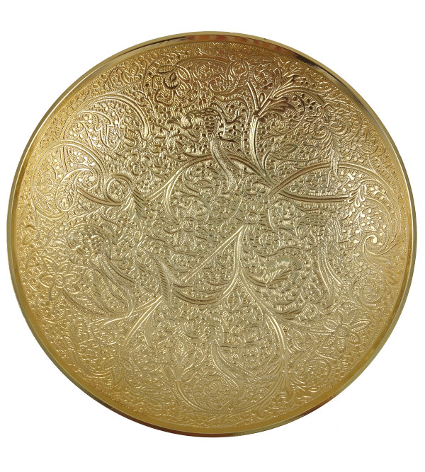 HANDICRAFT BRASS BOWL TEHNI WORK 7.5 INCH