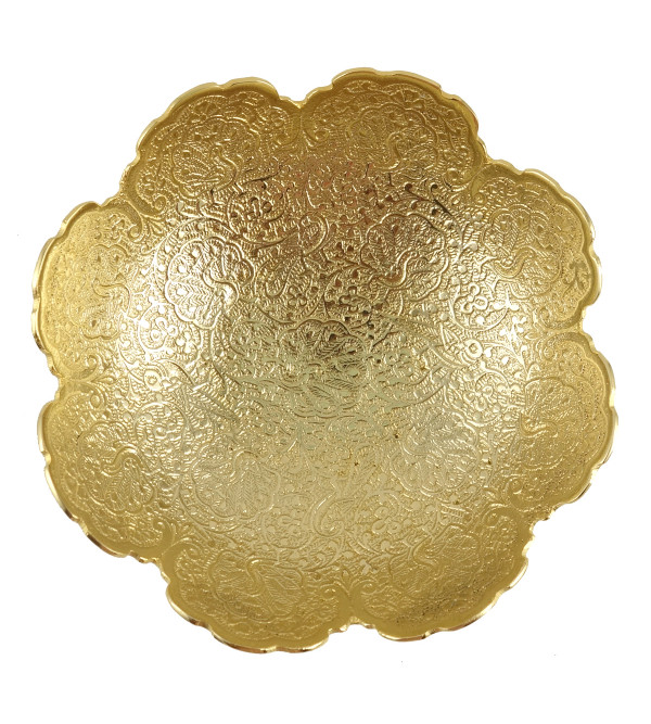 HANDICRAFT BOWL BRASS GOLD PLATED 6 INCH