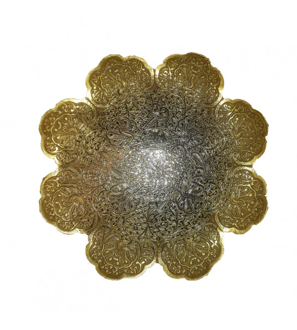 BOWL BRASS GOLD PLATED 8 INCH