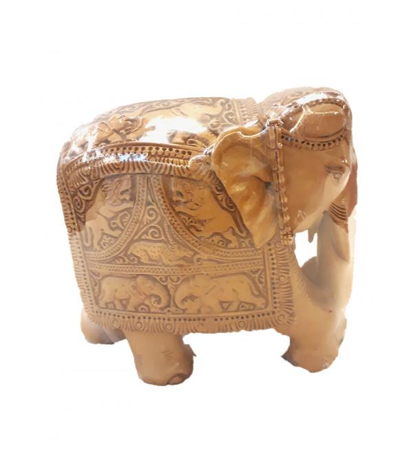ELEPHANT CARVED SANDALWOOD 6 INCHE