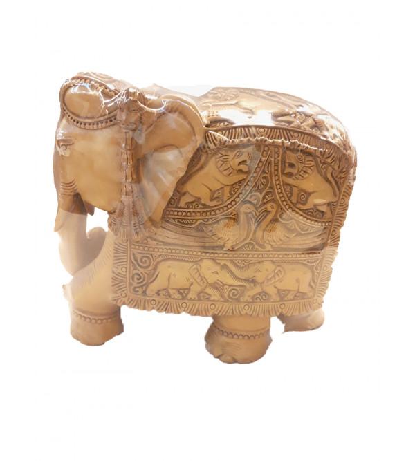 ELEPHANT CARVED SANDALWOOD 6 INCHES