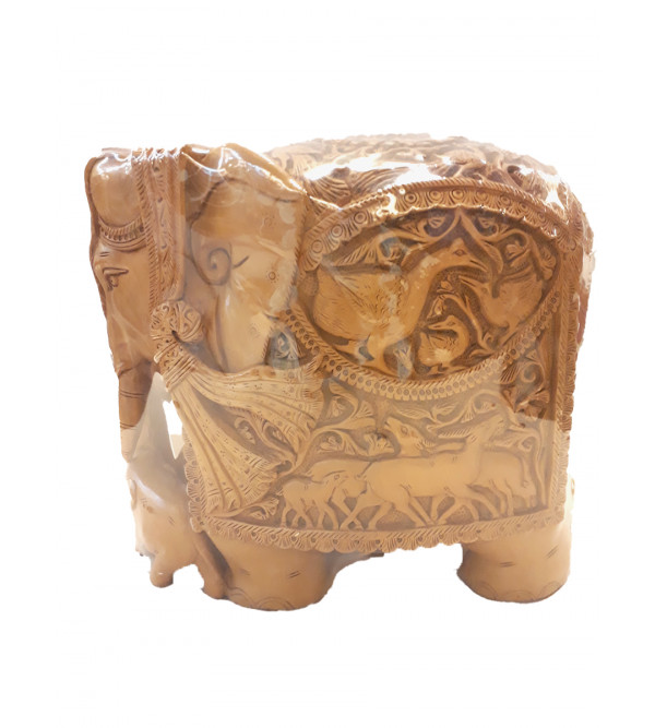 Sandalwood Handcrafted Carved Elephant