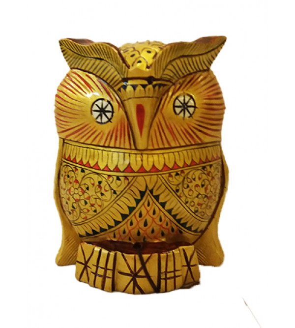 OWL PAINTED  4 INCH