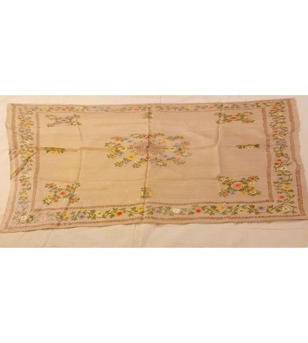 Silk Hand Painted Table Cover Size ...Inch