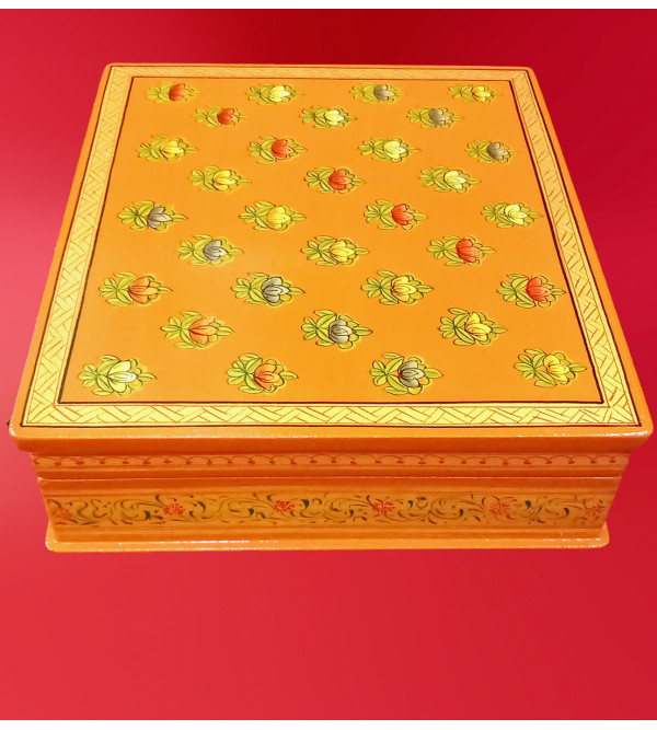 Wooden Hand Painted Box Size 8X7 Inches