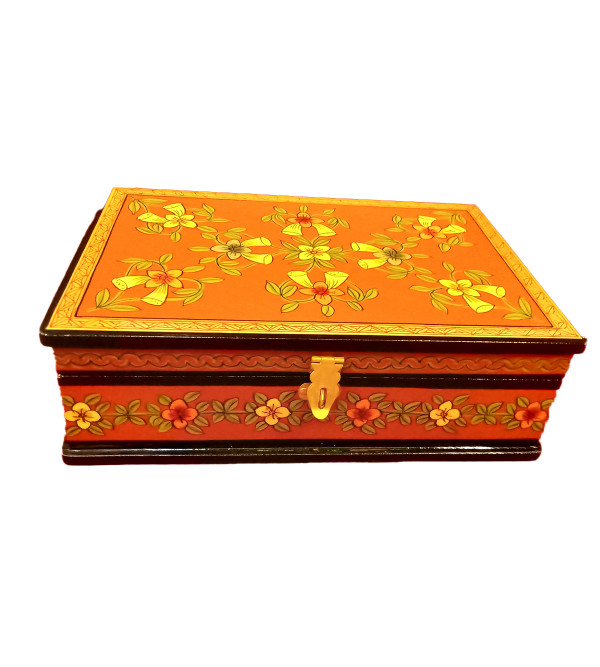 Wooden Hand Painted Box Size 9X6 Inches