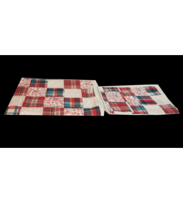 Cotton Patchwork Bedsheet  Set For Infants Size 28x28 Inches