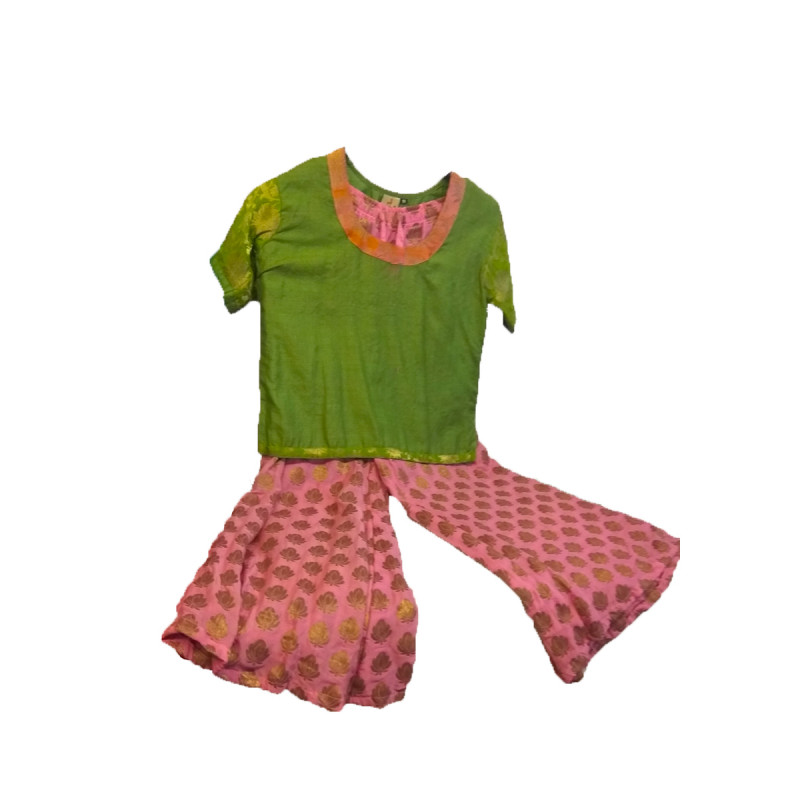 Brocade Plazzo Set With Top Size 6 to 8 Year