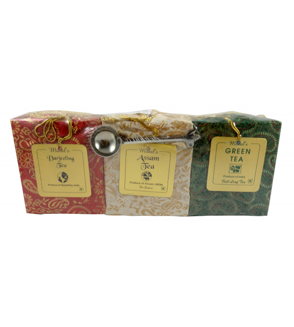 DARJEELING, ASSAM AND GREEN TEA 3IN1 TEA WITH SPOON 300 GMS