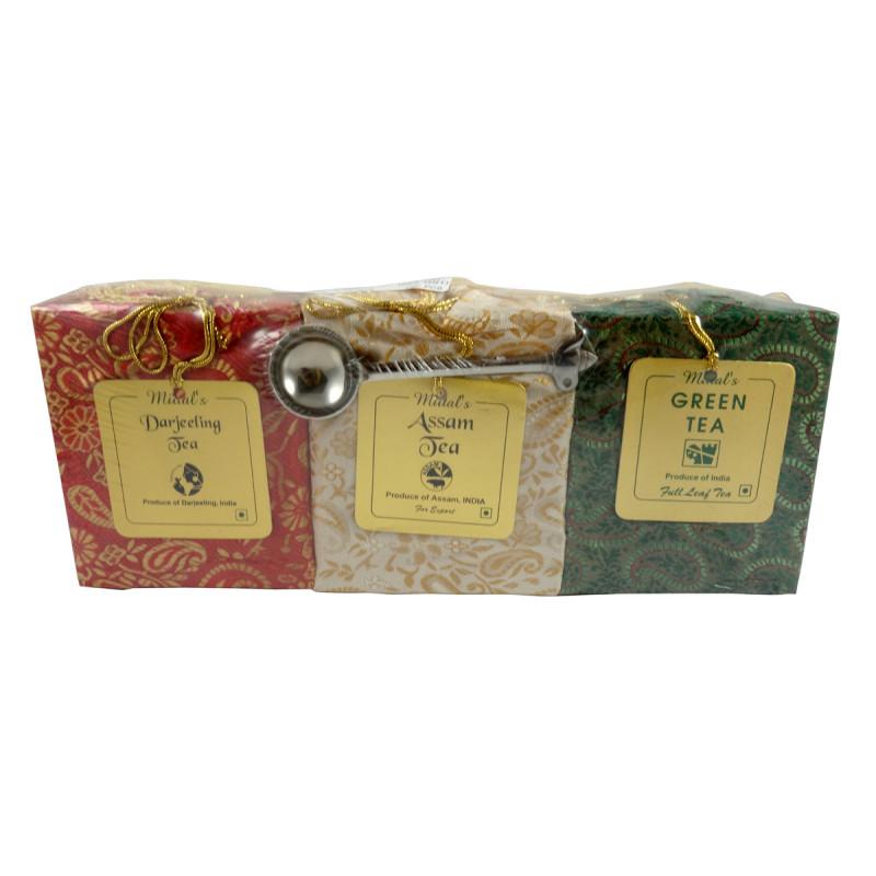 DARJEELING, ASSAM AND GREEN TEA 3IN1 TEA WITH SPOON 300 GMS