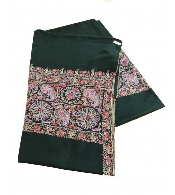 Pure Pashmina Paladar Embroidery Ladies Shawl 40 X80 Inch