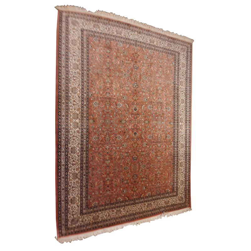 Kashmir Carpet Handknotted Silk/Silk 6ftx8ft, 30x30 knot psqft