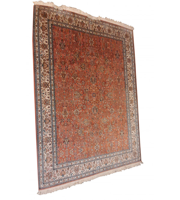 Kashmir Carpet Handknotted Silk/Silk, 5.5x8 ft, 28x28  knot. assorted design