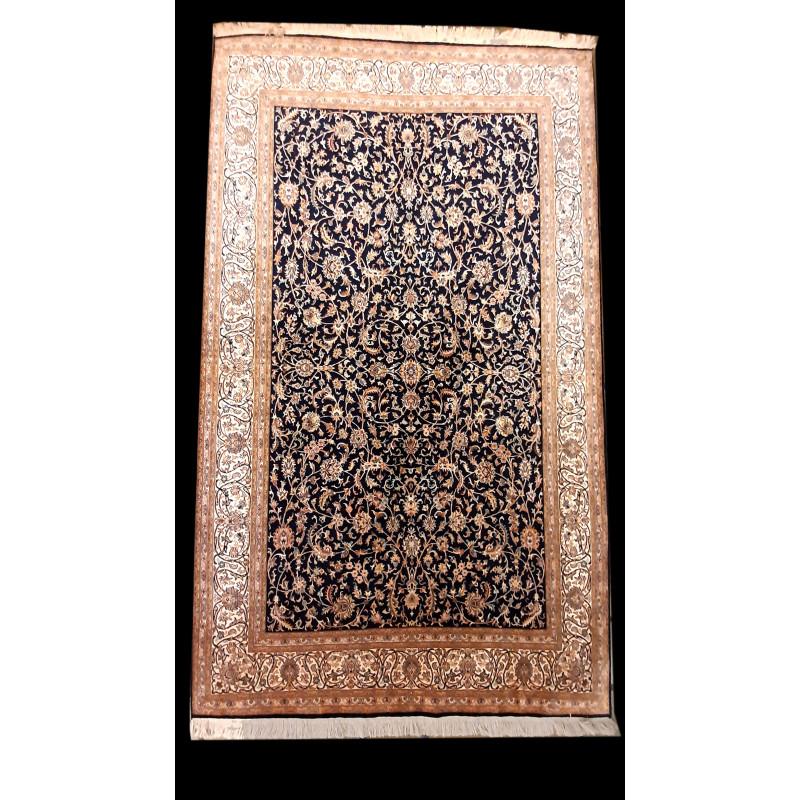 Kashmir Carpet Hand-knotted Silk x Silk Size 5ftx7ft
