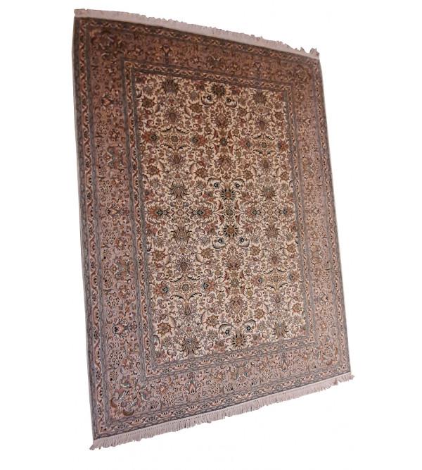 Kashmir Carpet Hand-knotted Silk x Silk Size 5.5ftx8ft