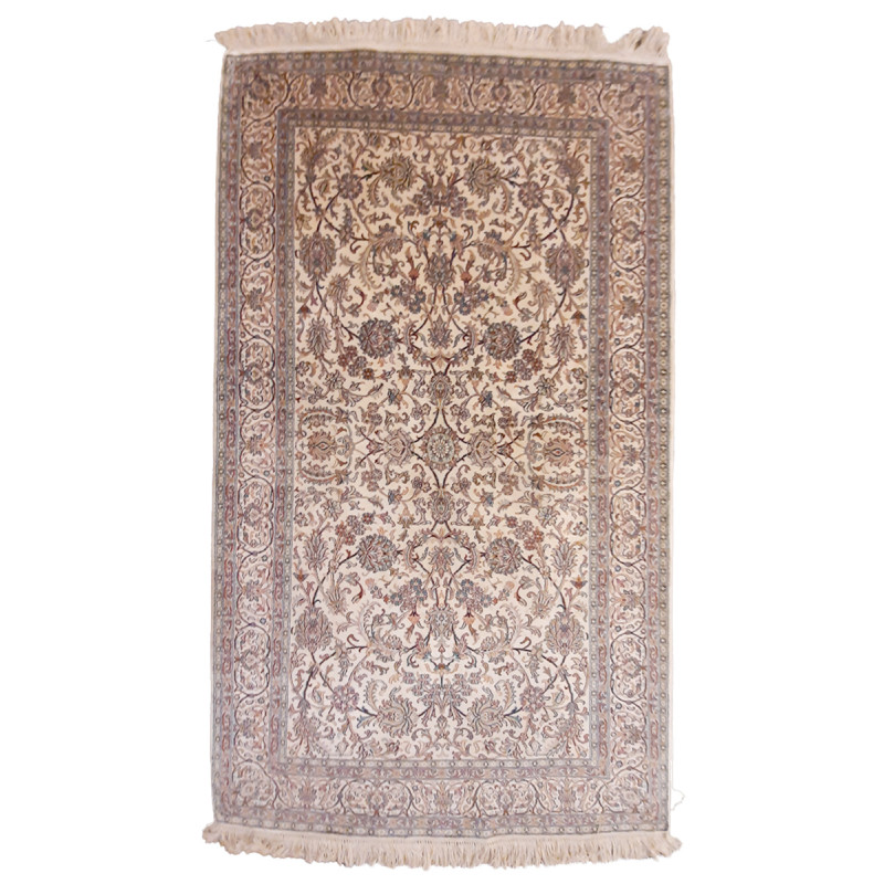 Kashmir Carpet Hand-knotted Silk x Silk Size 3ftx5ft