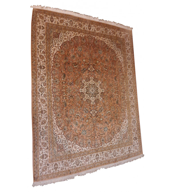 Kashmir Carpet Hand-knotted Silk x Silk Size 6ftx8ft