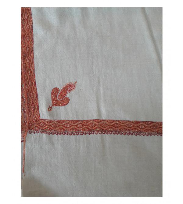 Pashmina Shawl Hashidar hand embroidered size,40X80 Inch