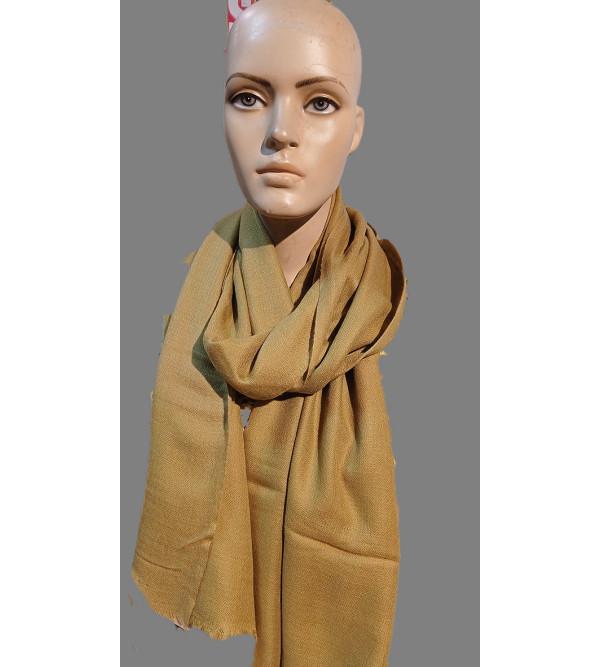 Cashmere Hand Woven Self Design Pashmina Stole Size,28X80 Inch