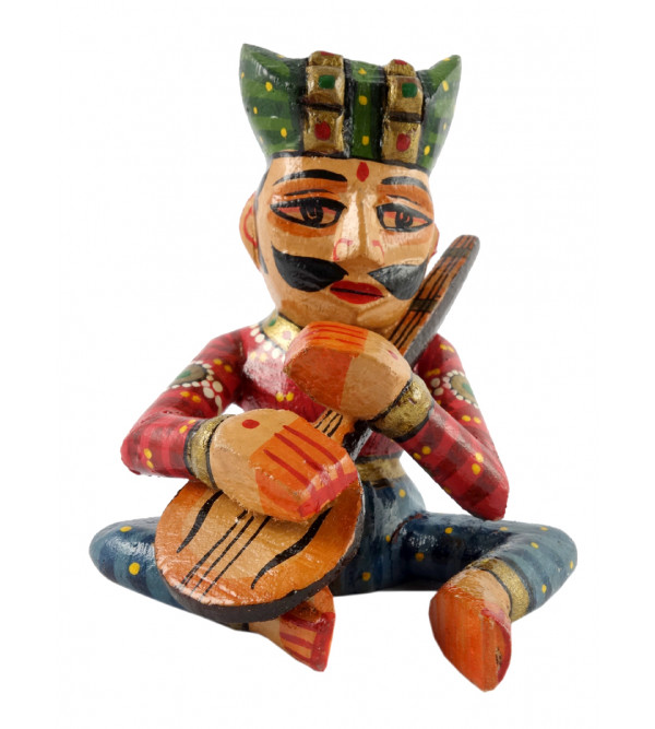 Toy Musician Handcrafted In Mango Wood Size 4 Inches