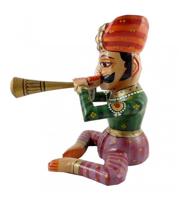 Toy Musician Handcrafted In Mango Wood Size 9 Inches