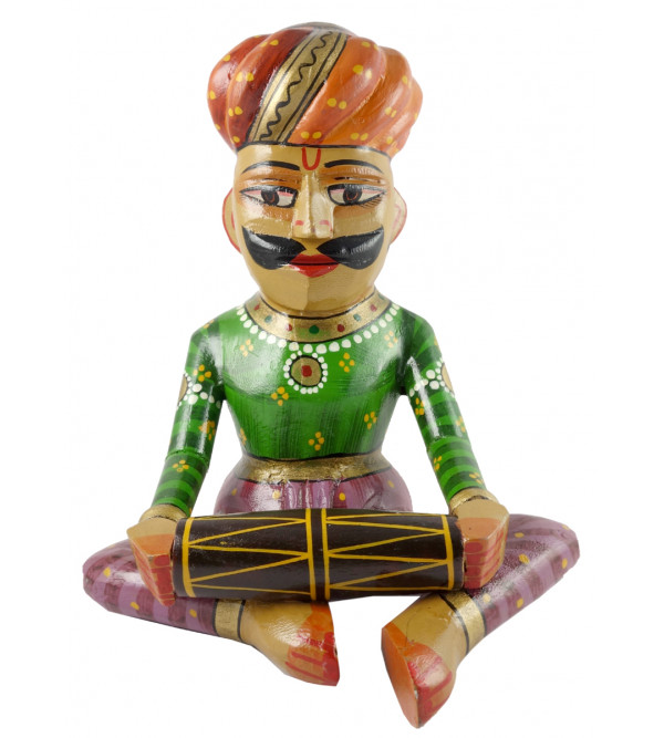 Toy Musician Handcrafted In Mango Wood Size 12 Inches