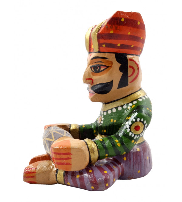 HANDICRAFT 3 INCH MUSICIAN  PAINTED IN MANGO WOOD