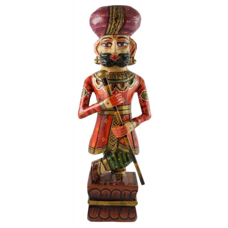 HANDICRAFT 15 INCH  DARBAN PAINTED IN MANGO WOOD