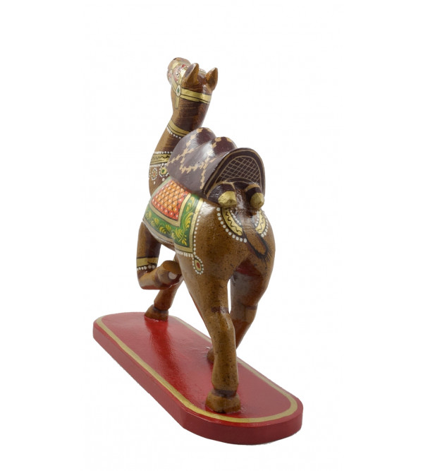 HANDICRAFT DOLA MARU ON CAMEL PAINTED 10 INCH