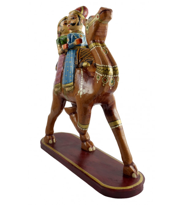HANDICRAFT DOLA MARU ON CAMEL PAINTED 12 INCH