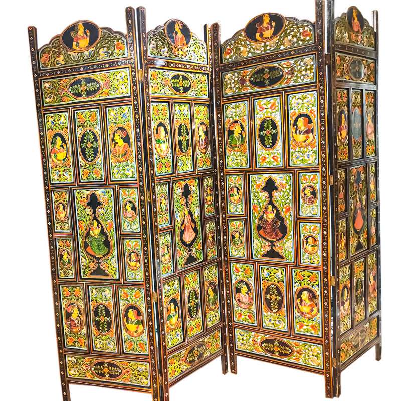 CARVED SCREEN WOODEN  72X72 INCH