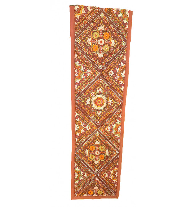 Cotton Hand Embroidered Runner Size 13x72 Inch