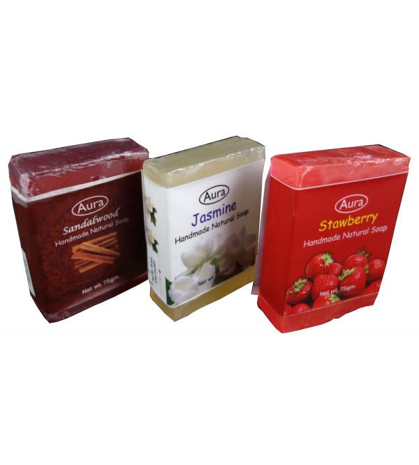 SOAP SET OF 3 PCS GLYCERINE SOAP