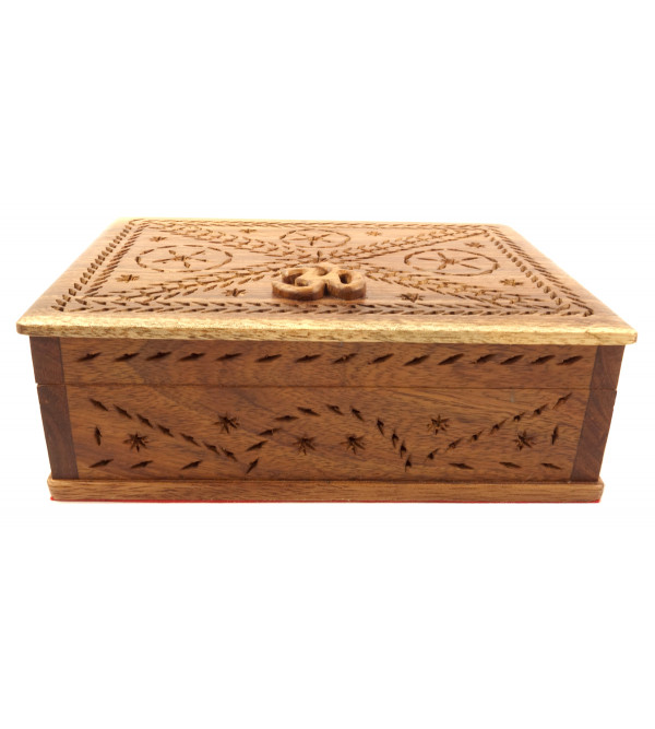 HANDICRAFT ASSORTED BOX TALI WOOD 7X7.5 INCH
